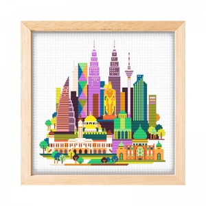 Wholesale Beginner Kits Home Decoration Fabric Cross-stitch Craft DIY Kits Building Patterns Embroidery Kits 15092