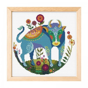Hot sale Taurus pattern home decoration cross stitch needlework cross stitch set  15001