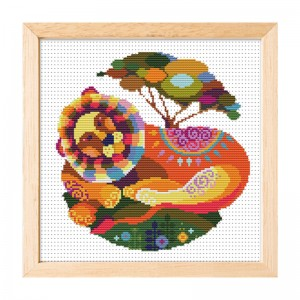 Hot sale Leo pattern home decoration cross stitch needlework cross stitch set 15002