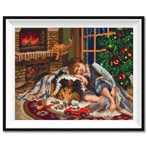 Factory Direct Sale Christmas Pattern DIY Diamond Painting Home Decoration Craft Design Pattern Diamond Art Painting12084
