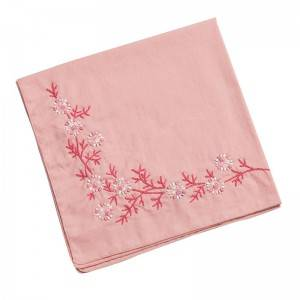 High quality  Handkerchief Colored Embroidered Square Hanky Ladies Handkerchief  513502