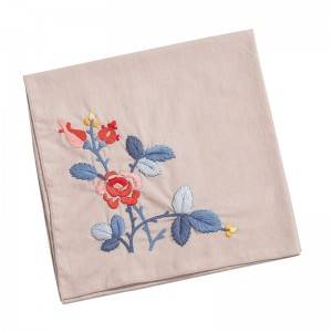 High quality  Handkerchief Colored Embroidered Square Hanky Ladies Handkerchief  513506
