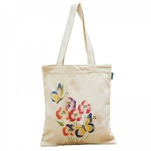 Cosmetic Drawstring Custom Embroidered Eco Bags Folding Package Handbags Zipper Duffel Canvas Tote Bag560107A