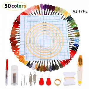 50/100skeins of thread Multicolored For Embroidery Cross needle Knitting Bracelets Colors Thread Cross Stitch Cotton Sewing 6310001
