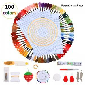 100 Color DIY Colorful Cotton Thread Embroidery Thread Cross Stitch Wiring Manual DIY Color Cotton Thread6310006