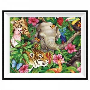 Round/square diamond painting using wall decoration cross stitch DIY full diamond  painting animal pattern12043