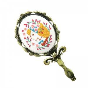 Wholesale Handmade Mirror Decoration Folk Craft Cross-stitch DIY Kits Embroidery Kit 512012