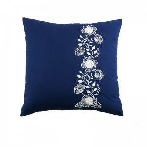 Wholesale embroidery flower design fashion decorative throw pillows for home cushion511609