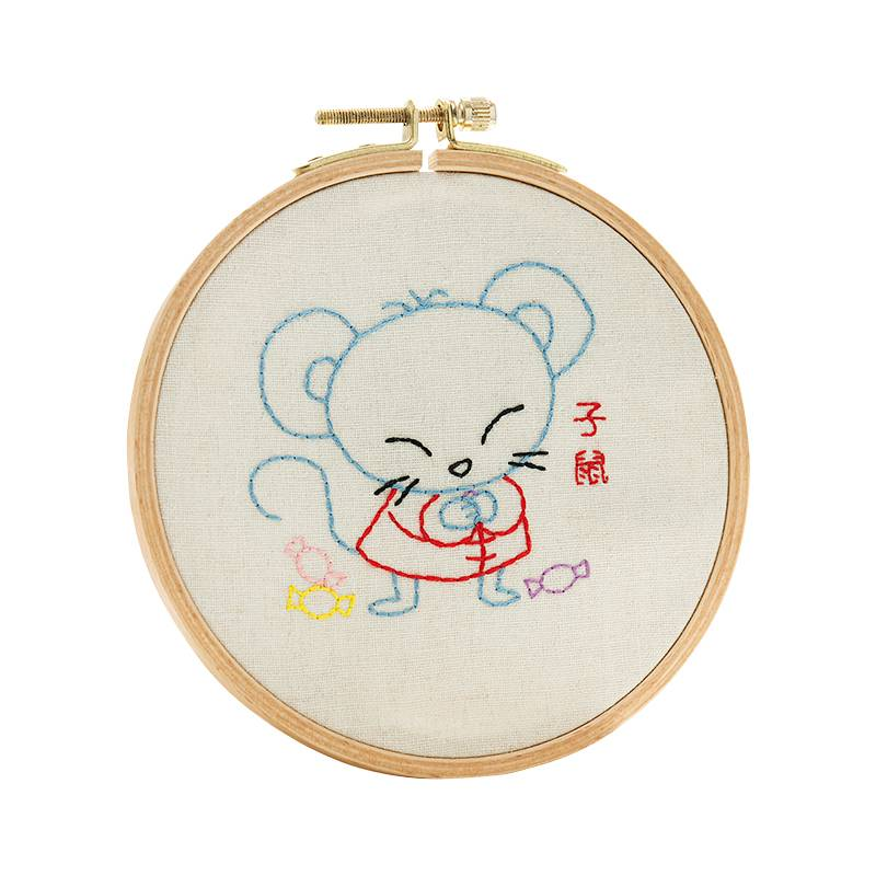 Customized Embroidery Set DIY Handmade Sewing Craft Embroidery Kits for Beginner 511101-511113 Featured Image
