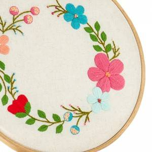 Customized Embroidery Set DIY Handmade Sewing Craft Embroidery Kits for Beginner 511122