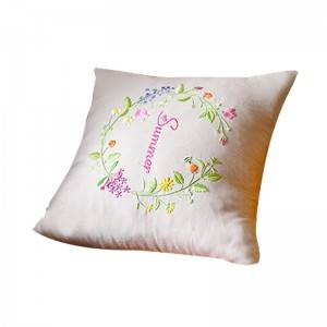 Wholesale embroidery flower design fashion decorative throw pillows for home cushion511602