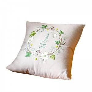 Wholesale embroidery flower design fashion decorative throw pillows for home cushion511605