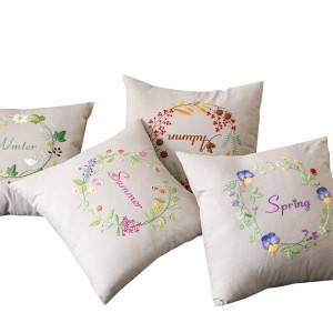 Wholesale embroidery flower design fashion decorative throw pillows for home cushion511603