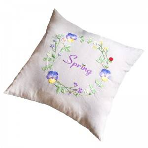 Wholesale embroidery flower design fashion decorative throw pillows for home cushion511601