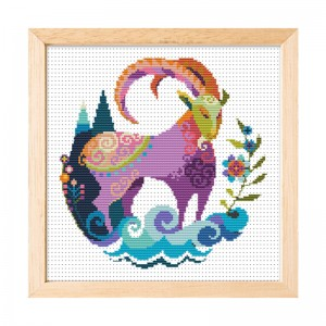 Wholesale Beginner Kits Home Decoration Fabric Cross-stitch Craft DIY Kits Aquarius Pattern Embroidery Kits.  15008