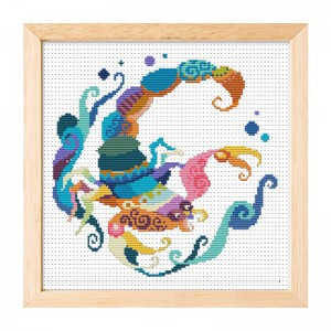 Hot sale Scorpio pattern home decoration cross stitch needlework cross stitch set 15009