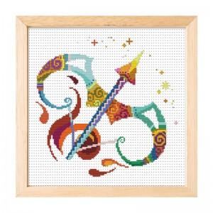 Hot sale sagittarius pattern home decoration cross stitch needlework cross stitch set. 15012