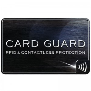 Custom Protective blocker RFID Blocking Card for Credit Card