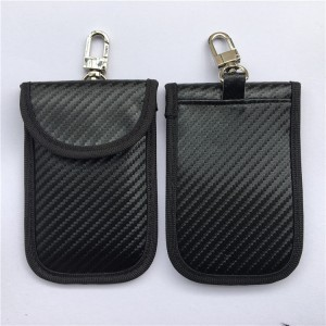 RFID Car Key bag Signal Carbon /Fiber Blocking Secure Pouch