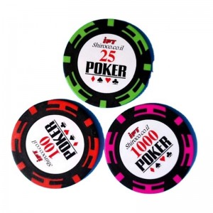 Custom printing Golf clay poker chip Casino Poker Chip