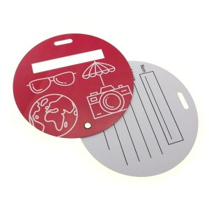 Custom airlines plastic PVC round circle Luggage Hang bag Tag Travel baggage tag