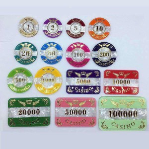 Acrylic Poker rfid Chip/Rectangular poker chips