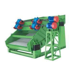 Banana shaped vibrating screen