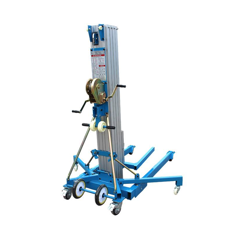 Manual Lifting Aluminum Aerial Work Platform