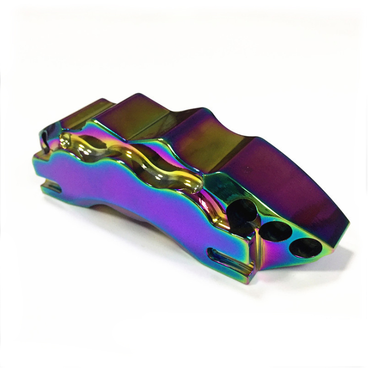 Mirror polished vacuum electroplated colorful PVD automotive aluminum alloy decorative parts custom CNC machining Featured Image