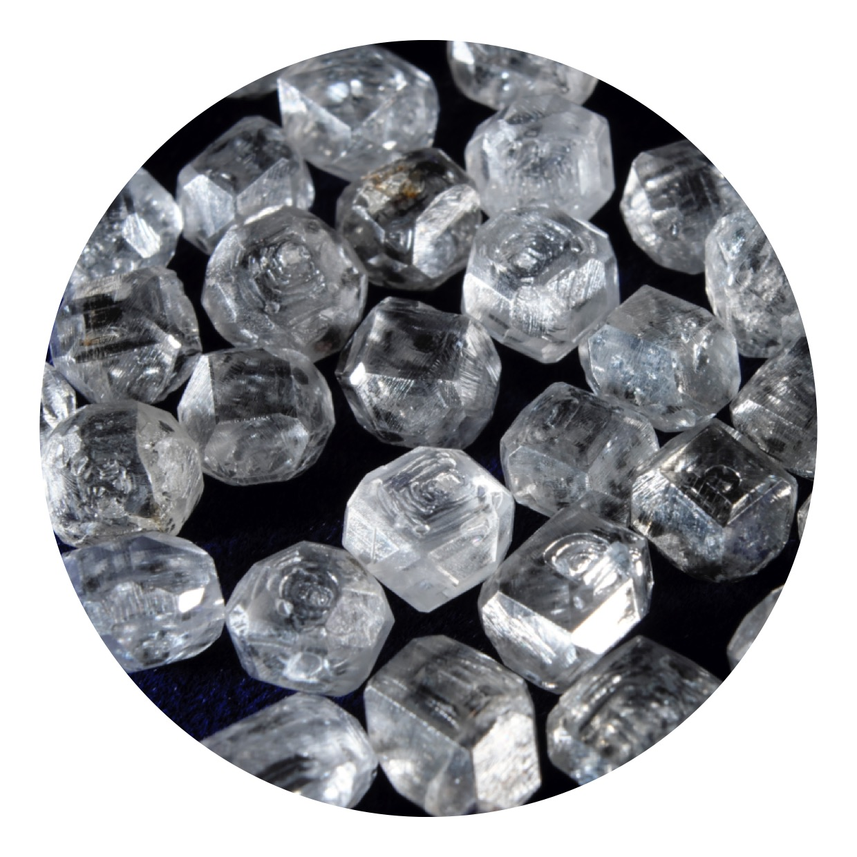 SI1-SI2 B Grade HPHT Man Made Diamond Stone For Jewels