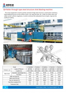 Q69 Pass Through Type Shot Blasting Machine for H Beam