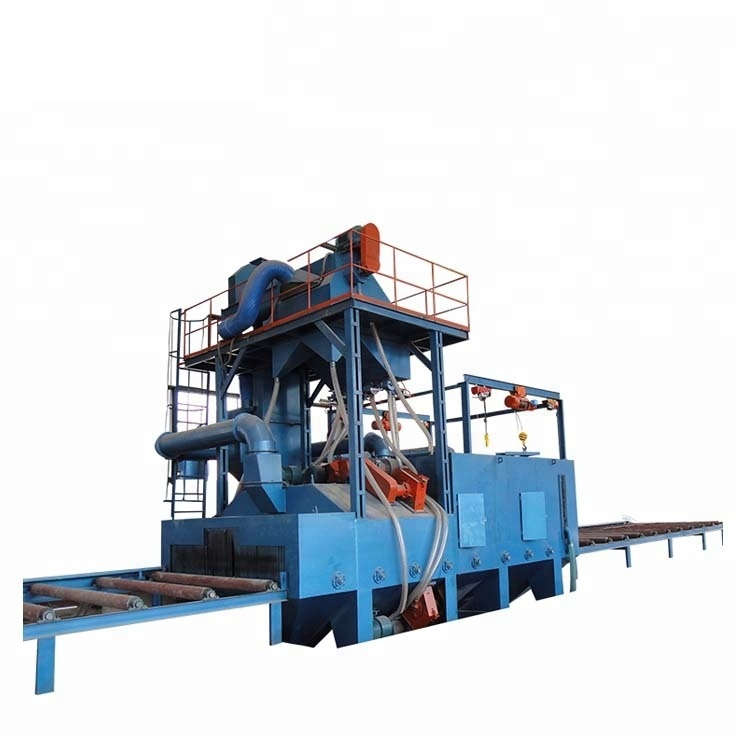 Photoelectric Detection Steel Plate and Section Steel Shot Blasting Machine Used for Cleaning The Rust on The Surface of The Steel Structure Featured Image