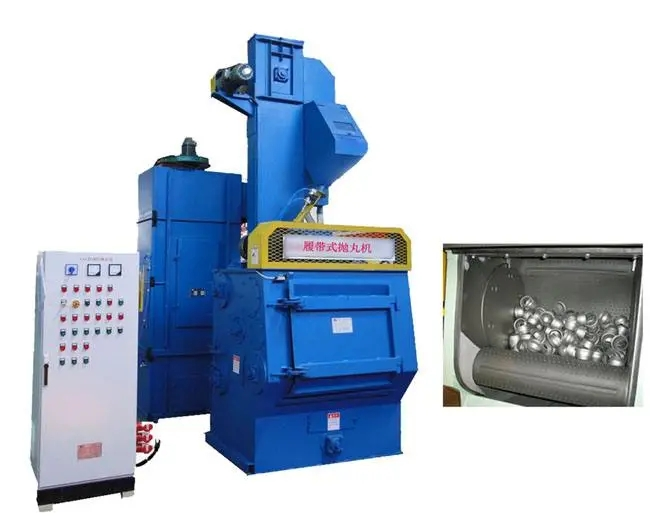 Tumblast Machine Tumble Belt Shot Blasting Machine for Springs and Bolts Featured Image