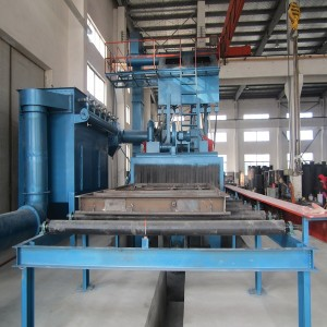 Photoelectric Detection Steel Plate and Section Steel Shot Blasting Machine Used for Cleaning The Rust on The Surface of The Steel Structure