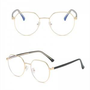 DLO3017 Large rimmed blue glasses