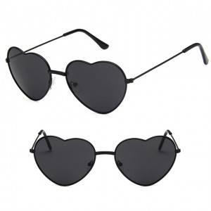 DLL014 Classic love heart shaped sunglasses
