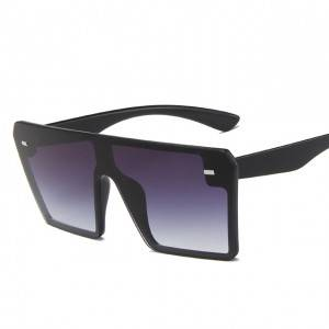 DLL2185 Oversized Square Frame Fashion Sunglasses