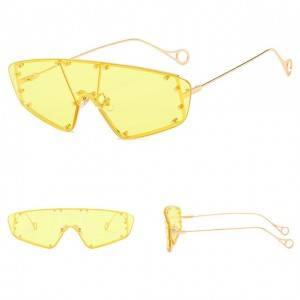 DLL903 New Fashion One Piece Oversized Luxury Sunglasses