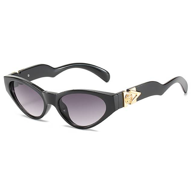 DLL4373 Retro Vintage Narrow Cat Eye Sunglasses Featured Image