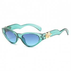 DLL4373 Retro Vintage Narrow Cat Eye Sunglasses
