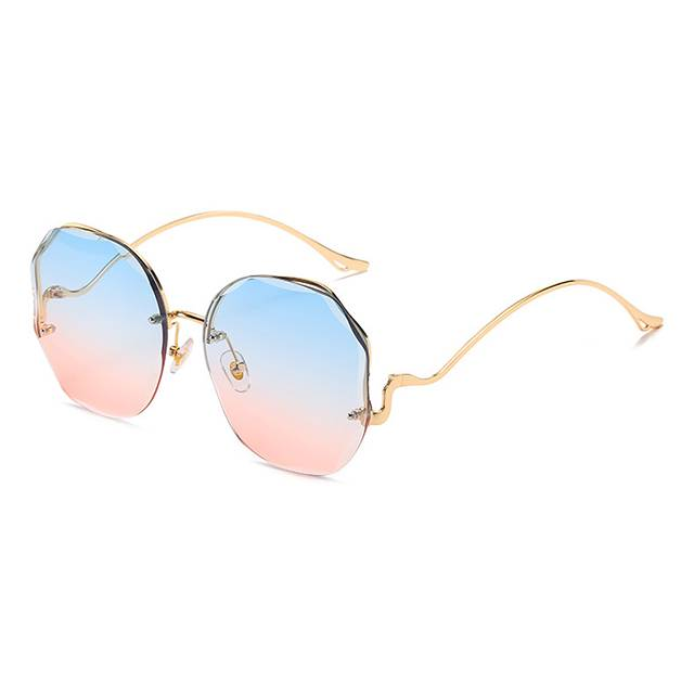 DLL3609 Unisex Luxury Fashion Square Rimless Sunglasses Featured Image