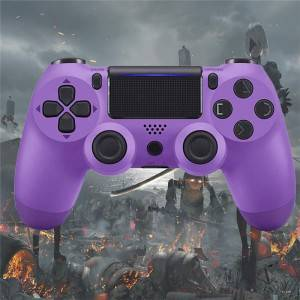PS4 Controller Game Controller for PS4 (Electric Purple), Dual Vibration Compatible with Windows PC & Android OS, Wireless Bluetooth Controller for Playstation 4