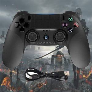 PS4 Controller Wireless Controller for Playstation 4, Game Controllers Compatible with PS4 Console and PC (Black)