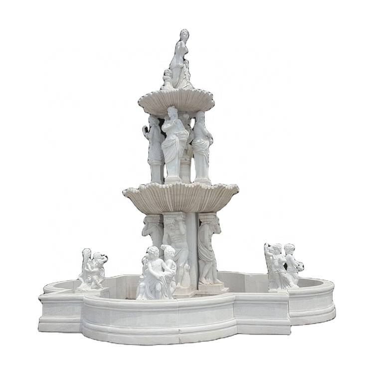 Marble stone statue  outdoor large  decorative water fountains Featured Image