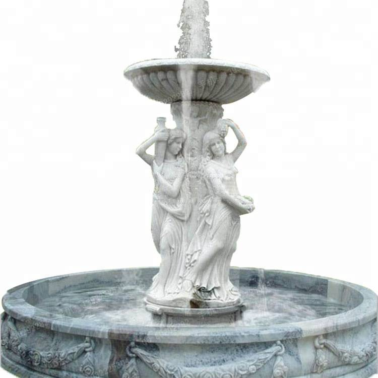 High quality marble scupture outdoor waterfall swimming pool water fountains