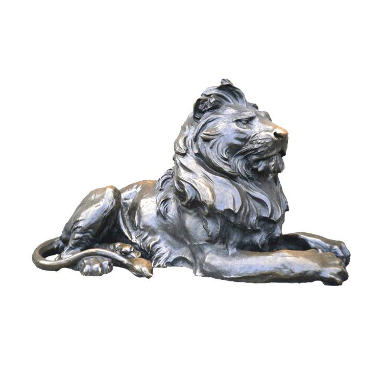 customized outdoor animal golden antique bronze lion statues