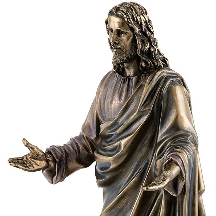 customized large meditating bronze jesus christ statue manufacturer for garden
