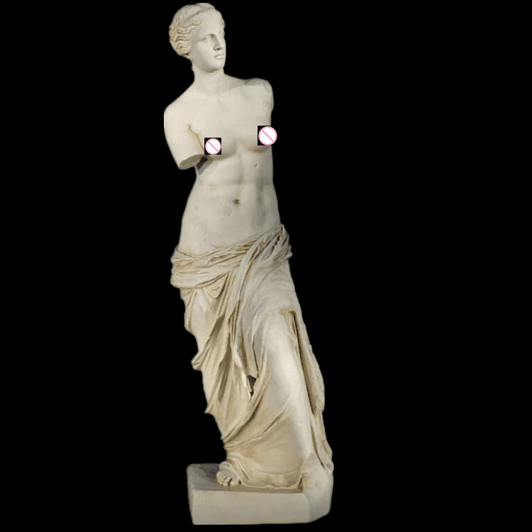 Roman Mythology Decorations Sculpture Life Size White Marble Venus De Milo Statue