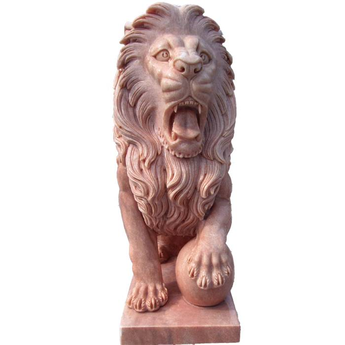 decorative natural carved stone animal garden marble lion