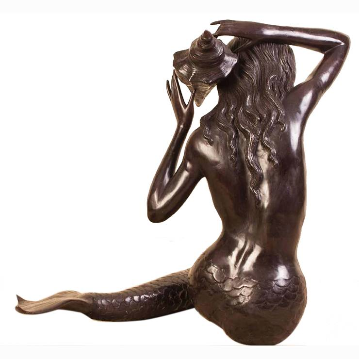 Outdoor Garden Sculpture Life Size Bronze Mermaid Statues